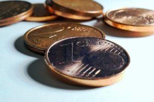 Ein Cent Münze für Vorfälligkeitsentschädigung