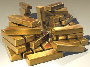 Gold Barren gestapelt