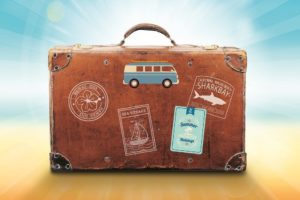 Koffer für Reise mit Schutz durch Private Krankenversicherung