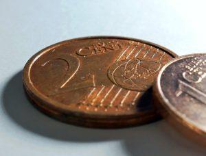 NahaufnahmeZwei Cent Münze