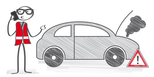 Automobilclub wird wegen Autopanne gerufen